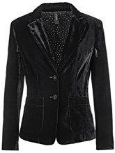 Marc Cain Collections HC 34.02 W28, Blazer Donna, Nero (Black 900), 38