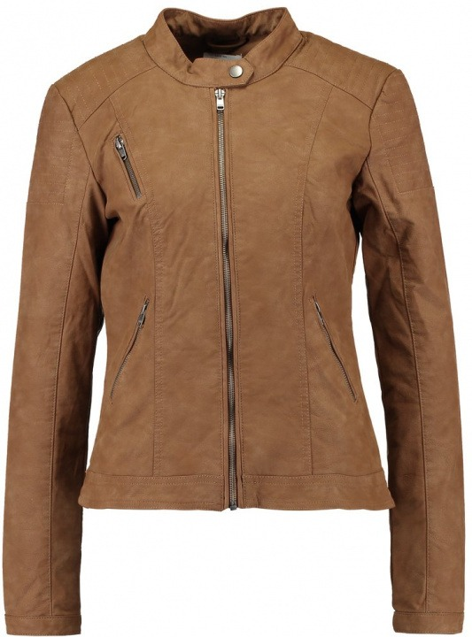 ONLY ONLSTEADY JACKET Giacca in similpelle cognac  40dcdcf22c8
