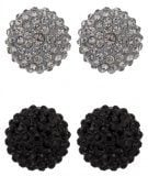 KIMMY 2 PACK - Orecchini - black/black diamond