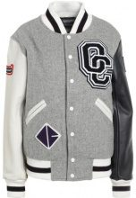 Opening Ceremony OC CLASSIC VARSITY JACKET Giacca di pelle light grey multi