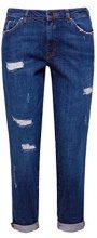 edc by ESPRIT 127cc1b048, Jeans Boyfriend Donna, Blu (Blue Dark Wash 901), W27/L32