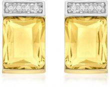 Carissima Gold Orecchini da Donna, Oro Giallo 9K (375), con Citrina
