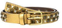 Dolce & Gabbana 710561_74, Cintura Pelle Donna, Dorato, 70 cm