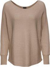 Pullover oversize a costine (Beige) - BODYFLIRT