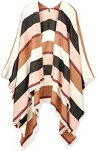 United Colors of Benetton Shawl, Poncho Donna, Multicolore (Mulitcolor White, Black, Pink, Brown), Taglia Unica