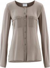 Blusa Premium con inserto di seta (Marrone) - bpc selection premium