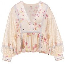 Free People BOOGIE ALL NIGHT PRINTED BLOUSE Camicetta ivory
