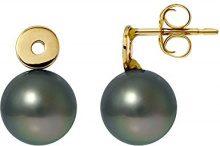 Pearls Colors &-Orecchini in oro giallo 9 kt, con perla coltivata di Tahiti, AM-422 R8J 9BOT