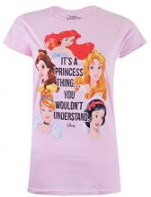 Disney Princess Thing, T-Shirt Donna, Pink (Light Pink), 44