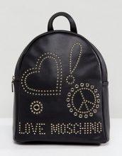 Love Moschino - Zaino con borchie - Nero