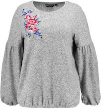 Dorothy Perkins Curve EMBROIDERED SHOULDER BUBBLE HEMSOFT TOUCH  Maglione grey