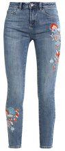 New Look LEO EMBROIDERED FRAY HEM Jeans Skinny Fit mid blue