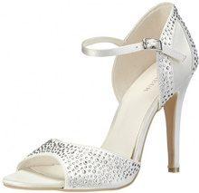 Menbur Wedding Cristal, Sandali con cinturino alla caviglia donna, Avorio (Elfenbein (Ivory 04)), 37