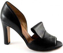 Sandali Malù  MALU' 1460 nero scarpe sandali donna spuntate tallone chiuso tac