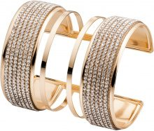 Bracciale rigido con pietre (Oro) - bpc bonprix collection