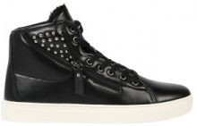 Sneakers high top imbottite con zip e rivetti
