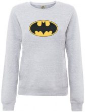 DC Comics - Felpa, Manica lunga, Donna, grigio (Heather Grey), S