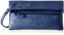 Boscha BO-1247-MT, Pochette Donna, Blu (Mood Indigo), 1x14x29 cm