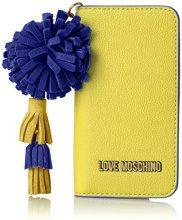 Love Moschino Portacel.small Grain Pu Giallo - Pochette da giorno Donna, (Yellow), 1x15x8 cm (B x H T)