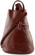 Zaini Dream Leather Bags Made In Italy  Zaino In Vera Pelle Per Donna Con Bretelle A Cerniera Colore Ros