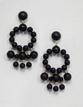 ASOS - Orecchini pendenti con perlina opaca - Nero