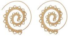 Orecchini a spirale con decorazione