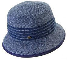 Seeberger Serie Susi, Cappelli da Sole Donna, Blau (Stahl 0064), Taglia unica