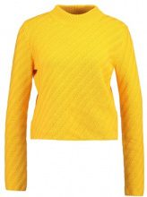 Selected Femme SFABELA KNIT CROPPED HIGHNECK Maglione citrus