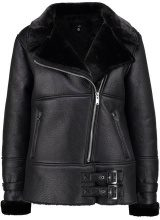 Missguided AVIATOR WITH BUCKLE DETAIL Giacca invernale black