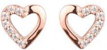 Orecchini in argento sterling con effetto oro rosa