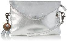Legend Costa Pochette da giorno Donna, Silber (Silber Mettalic), 14x4x20 cm (L x H D)