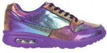 Sneakers con cuscinetto d'aria effetto arcobaleno