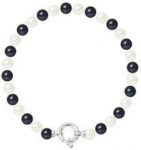 Pearls & Colors Bracciale intrecciato Donna argento 925_argento perla rotonda - AM-17-BRA-AG-R67-AML-WHBL