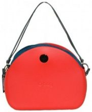 Borsette O Bag  Borsa  moon light scocca rossa  sacca e manici ottanio