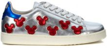 Scarpe Moa - Master Of Arts  Sneaker MoA in pelle laminata argento con Mickey Mouse