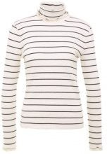 J.CREW RIB TURTLENECK WITH CONTRASTING TRIM Maglione ivory navy