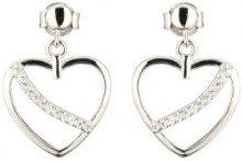 Orecchini in argento sterling con pendente a cuore