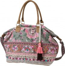 Borsa shopper con ricamo e paillettes (Blu) - bpc bonprix collection