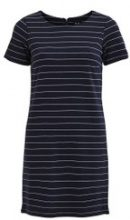 Abito T-shirt media lunghezza a righe con maniche corte