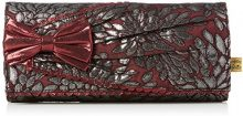 Irregular Choice Patty Bow Clutch - Pochette da giorno Donna, Red (Burgundy), 4x13x29.5 cm (W x H L)