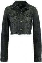 Urban Classics SHORT JACKET Giacca di jeans black washed
