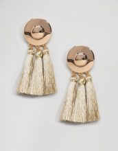 ASOS - Orecchini a disco con nappe in metallo - Oro