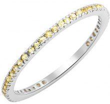 Miore Anelli Donna oro bianco 9 carati Zaffiro giallo