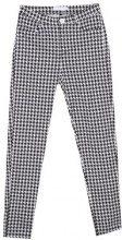 Pantaloni slim fit con motivo pied de poule