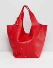 Glamorous - Borsa rossa con borchie - Rosso