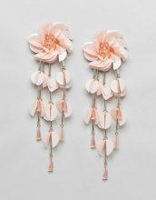 ASOS DESIGN - Orecchini appariscenti a fiore con perline - Rosa