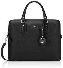 Sansibar Business Bag - Borse a secchiello Donna, Schwarz (Black), 37x29x8 cm (B x H T)