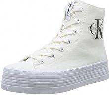 Calvin Klein Jeans Zabrina Canvas - Scarpe Donna, Bianco (White), 40 EU