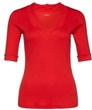 Marc Cain Essentials Marccaindament-Shirts+E4859J50, T-Shirt Donna, Rot (Scarlet 272), 40