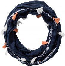 Sciarpina ad anello con nappine (Blu) - bpc bonprix collection